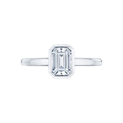 Tacori 300-2EC-7X5 Starlit Platinum Emerald Cut Engagement Ring