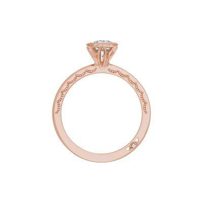 Tacori 300-2EC-7X5PK Rose Gold Emerald Cut Engagement Ring side