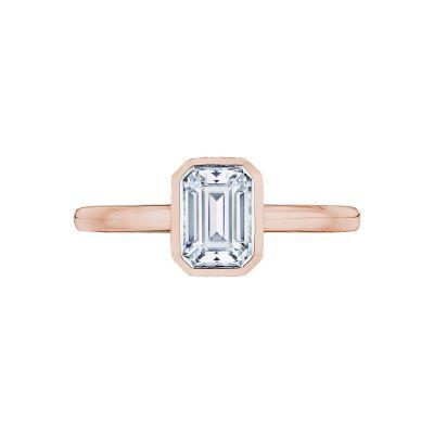 Tacori 300-2EC-7X5PK Starlit Rose Gold Emerald Cut Engagement Ring
