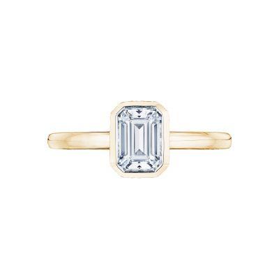 Tacori 300-2EC-7X5Y Starlit Yellow Gold Emerald Cut Engagement Ring
