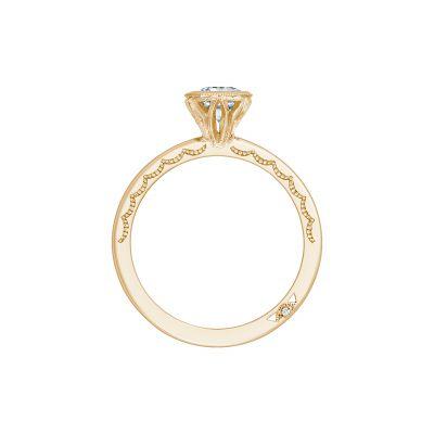 Tacori 300-2EC-7X5Y Yellow Gold Emerald Cut Engagement Ring side