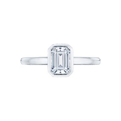 Tacori 300-2EC Starlit White Gold Emerald Cut Engagement Ring