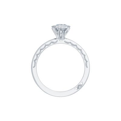 Tacori 300-2EC White Gold Emerald Cut Engagement Ring side