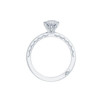 Tacori 300-2OV White Gold Oval Engagement Ring side