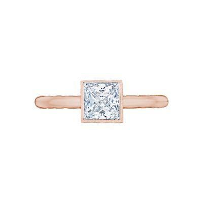 Tacori 300-2PR-45PK Starlit Rose Gold Princess Cut Engagement Ring