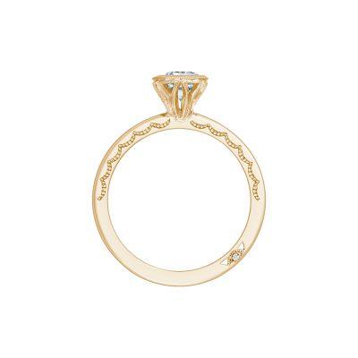 Tacori 300-2PR-45Y Yellow Gold Princess Cut Engagement Ring side