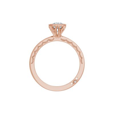 Tacori 300-2PS-85X55PK Rose Gold Pear Shaped Engagement Ring side