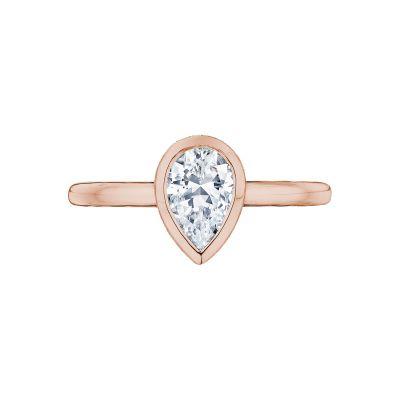 Tacori 300-2PS-85X55PK Starlit Rose Gold Pear Shaped Engagement Ring