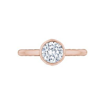 Tacori 300-2RD-55PK Starlit Rose Gold Round Engagement Ring