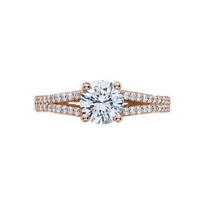 Tacori 3001-PK Simply Tacori Rose Gold Round Engagement Ring