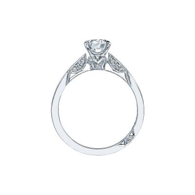 Tacori 3002 Platinum Round Engagement Ring side