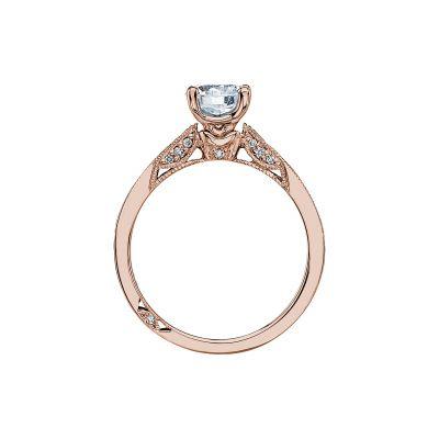 Tacori 3003-PK Rose Gold Round Engagement Ring side