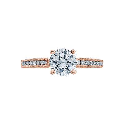 Tacori 3003-PK Simply Tacori Rose Gold Round Engagement Ring