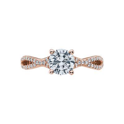 Tacori 3004-PK Ribbon Rose Gold Round Engagement Ring
