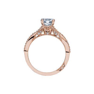 Tacori 3004-PK Rose Gold Round Engagement Ring side