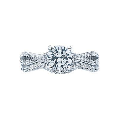 Tacori 3004 Platinum Round Twist Band Engagement Ring set