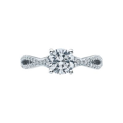 Tacori 3004 Ribbon Platinum Round Engagement Ring