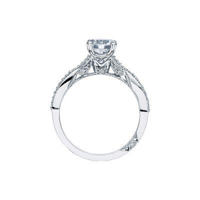 Tacori 3004-W White Gold Round Engagement Ring side