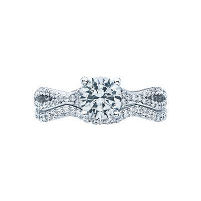 Tacori 3004-W White Gold Round Split Shank Engagement Ring set