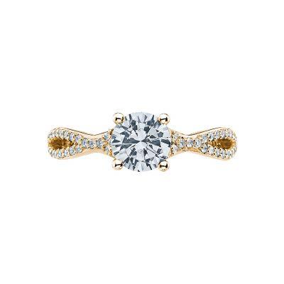 Tacori 3004-Y Ribbon Yellow Gold Round Engagement Ring