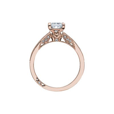 Tacori 3005-PK Rose Gold Princess Cut Engagement Ring side