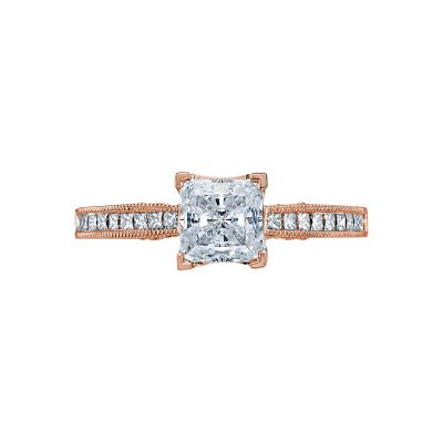 Tacori 3005-PK Simply Tacori Rose Gold Princess Cut Engagement Ring