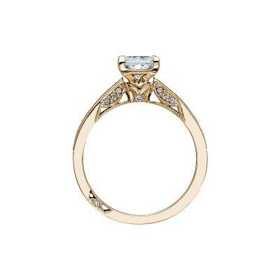 Tacori 3005-Y Yellow Gold Princess Cut Engagement Ring side