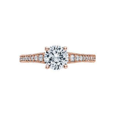 Tacori 3006-PK Simply Tacori Rose Gold Round Engagement Ring