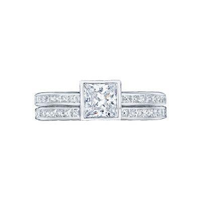 Tacori 301-25PR-5 Platinum Princess Cut Art Deco Engagement Ring set