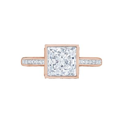 Tacori 301-25PR-5PK Starlit Rose Gold Princess Cut Engagement Ring