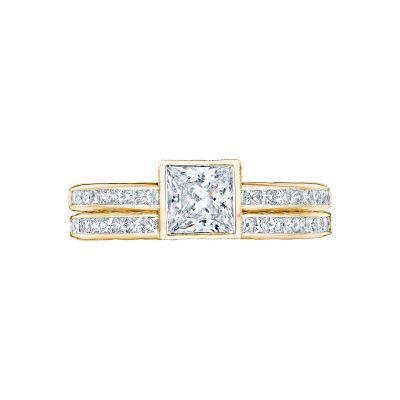 Tacori 301-25PR-5Y Yellow Gold Princess Cut Classic Engagement Ring set