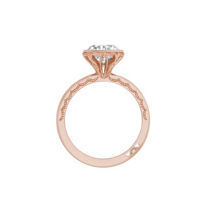 Tacori 301-25RD-6PK Rose Gold Round Engagement Ring side