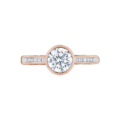 Tacori 301-25RD-6PK Starlit Rose Gold Round Engagement Ring