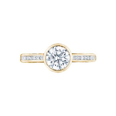 Tacori 301-25RD-6Y Starlit Yellow Gold Round Engagement Ring