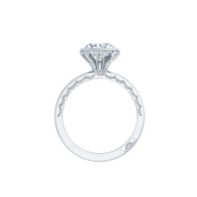 Tacori 301-25RD White Gold Round Engagement Ring side