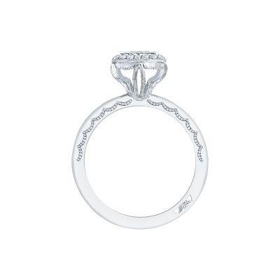 Tacori 303-25PR-525 Platinum Princess Cut Engagement Ring side