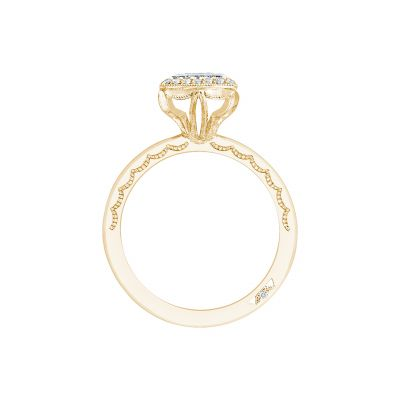 Tacori 303-25PR-525Y Yellow Gold Princess Cut Engagement Ring side