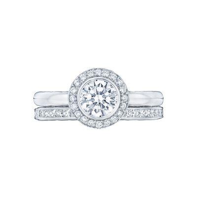 Tacori 303-25RD-625 Platinum Round Bezel Set Engagement Ring set
