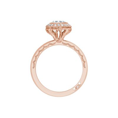 Tacori 303-25RD-625PK Rose Gold Round Engagement Ring side