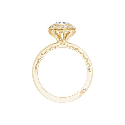 Tacori 303-25RD-625Y Yellow Gold Round Engagement Ring side