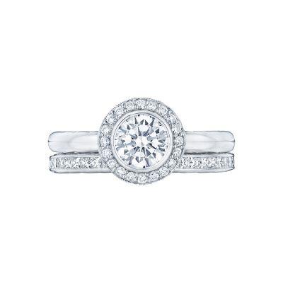 Tacori 303-25RD White Gold Round Classic Halo Engagement Ring set