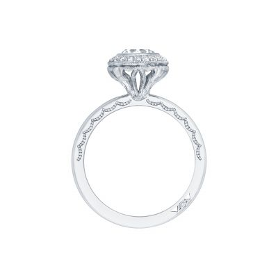 Tacori 303-25RD White Gold Round Engagement Ring side
