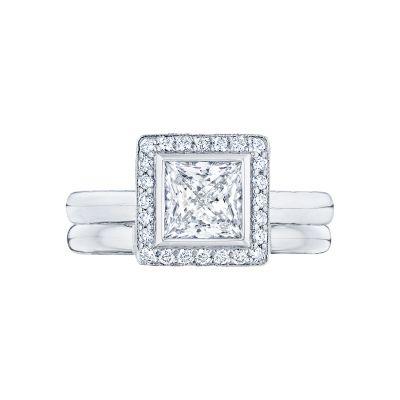Tacori 304-25PR-5 Platinum Princess Cut Elegant Style Engagement Ring set
