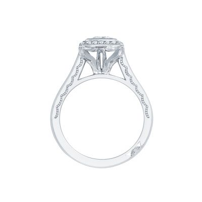 Tacori 304-25PR-5 Platinum Princess Cut Engagement Ring side
