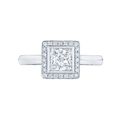 Tacori 304-25PR-5 Starlit Platinum Princess Cut Engagement Ring