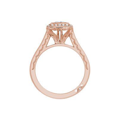 Tacori 304-25PR-5PK Rose Gold Princess Cut Engagement Ring side