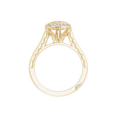 Tacori 304-25PR-5Y Yellow Gold Princess Cut Engagement Ring side