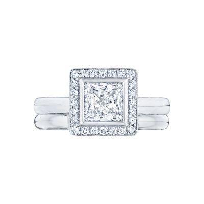 Tacori 304-25PR White Gold Princess Cut Classic Halo Engagement Ring set