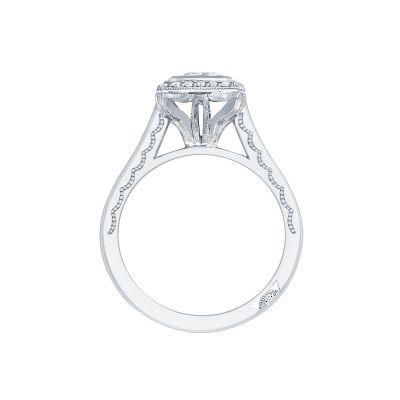 Tacori 304-25PR White Gold Princess Cut Engagement Ring side