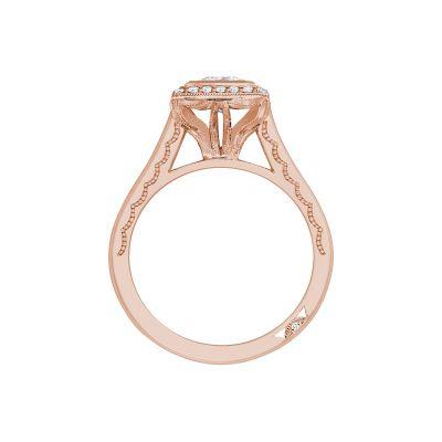 Tacori 304-25RD-6PK Rose Gold Round Engagement Ring side